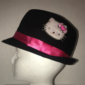 Hello Kitty Black and Pink Fedora Size Small